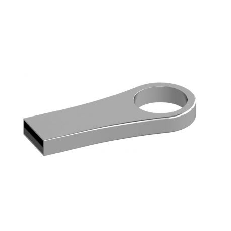 Memoria USB en metal color plata